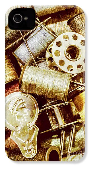IPhone 4s Case featuring the photograph Antique Sewing Artwork by Jorgo Photography - Wall Art Gallery
