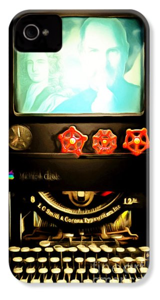 IPhone 4s Case featuring the photograph Apple Announcement Introducing The I-steampunk One 20160321 by Wingsdomain Art and Photography
