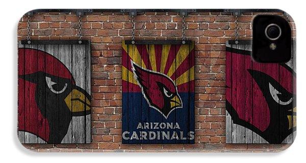Arizona Cardinals Brick Wall IPhone 4s Case by Joe Hamilton