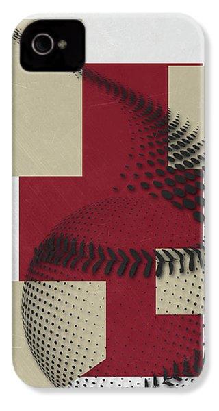 Arizona Diamondbacks Art IPhone 4s Case by Joe Hamilton