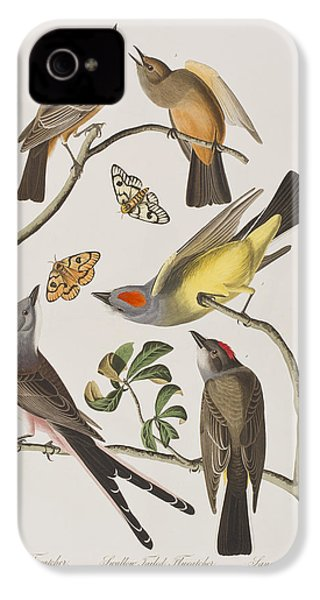 Arkansaw Flycatcher Swallow-tailed Flycatcher Says Flycatcher IPhone 4s Case by John James Audubon