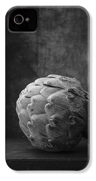 Artichoke Black And White Still Life IPhone 4s Case by Edward Fielding