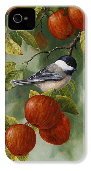 Apple Chickadee Greeting Card 2 IPhone 4s Case