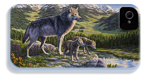 Wolf Painting - Passing It On IPhone 4s Case by Crista Forest