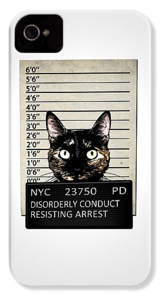 Kitty Mugshot IPhone 4s Case by Nicklas Gustafsson