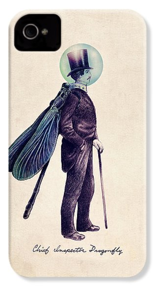 Inspector Dragonfly IPhone 4s Case by Eric Fan