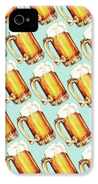 Beer Pattern IPhone 4s Case by Kelly Gilleran