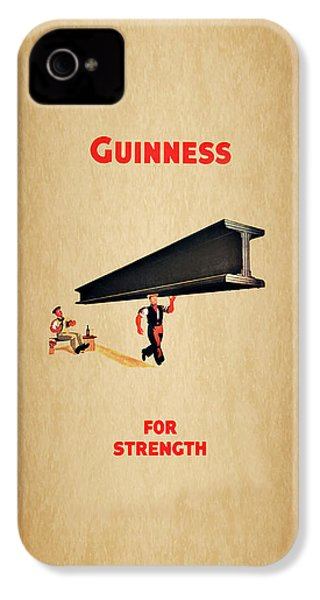 Guiness For Strength IPhone 4s Case by Mark Rogan