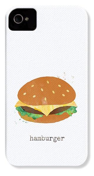 Hamburger IPhone 4s Case by Linda Woods