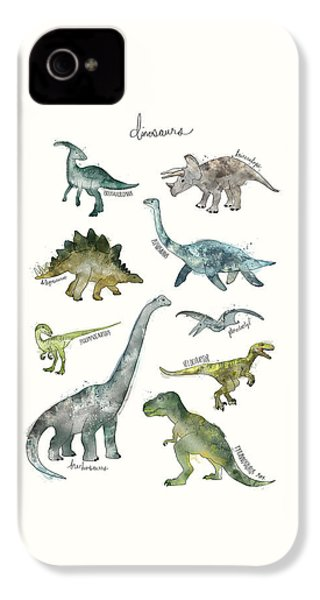 Dinosaurs IPhone 4s Case by Amy Hamilton