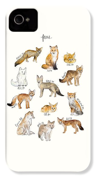Foxes IPhone 4s Case by Amy Hamilton