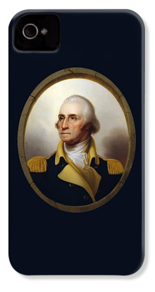 General Washington - Porthole Portrait  IPhone 4s Case by War Is Hell Store