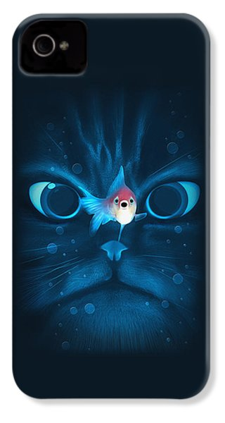Cat Fish IPhone 4s Case by Nicholas Ely
