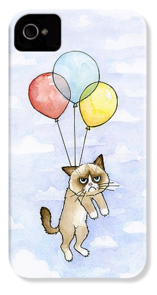 Grumpy Cat And Balloons IPhone 4s Case