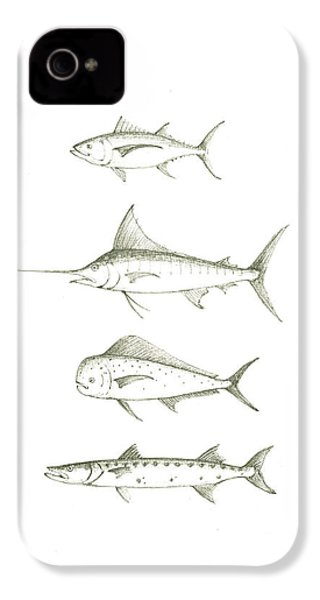 Saltwater Gamefishes IPhone 4s Case by Juan Bosco