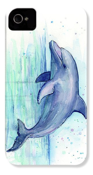 Dolphin Watercolor IPhone 4s Case