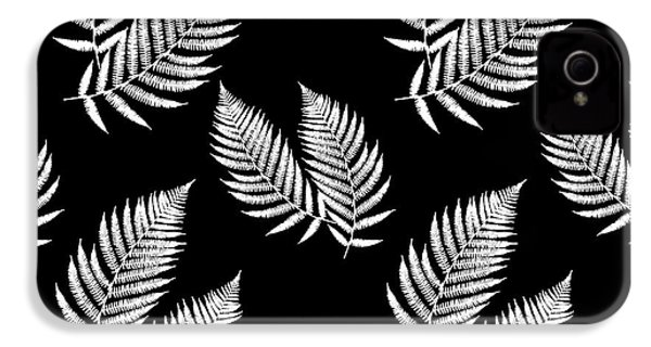 IPhone 4s Case featuring the mixed media Fern Pattern Black And White by Christina Rollo