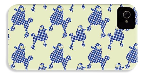 French Poodle Plaid IPhone 4s Case by Christina Rollo