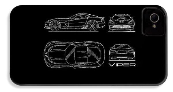 Srt Viper Blueprint IPhone 4s Case