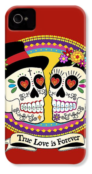 Los Novios Sugar Skulls IPhone 4s Case