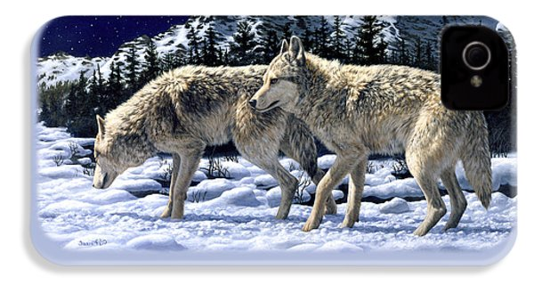 Wolves - Unfamiliar Territory IPhone 4s Case by Crista Forest