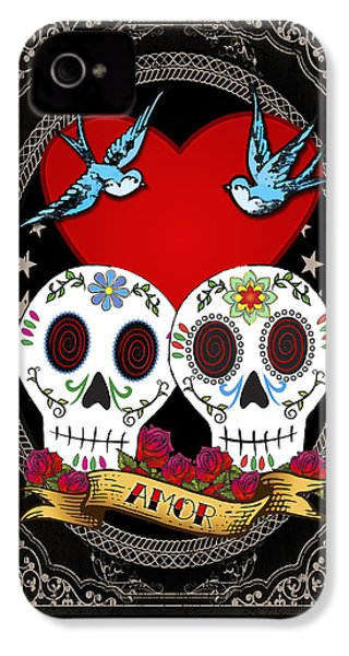 Love Skulls II IPhone 4s Case