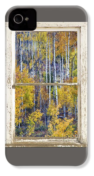 Aspen Tree Magic Cottonwood Pass White Farm House Window Art IPhone 4s Case