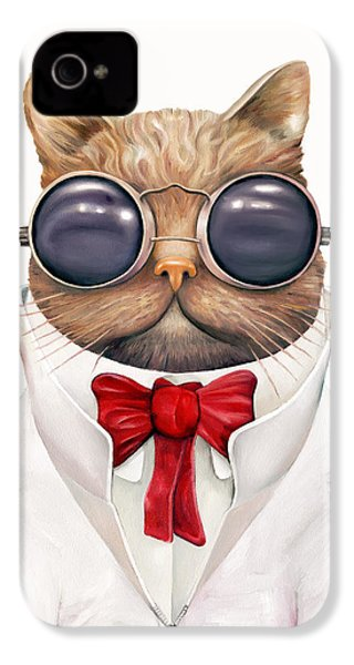 Astro Cat IPhone 4s Case by Animal Crew