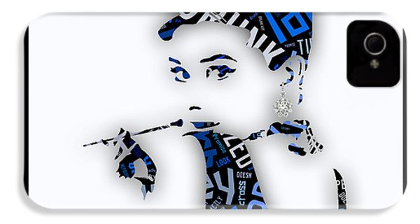 Audrey Hepburn Breakfast At Tiffany's Quotes IPhone 4s Case by Marvin Blaine