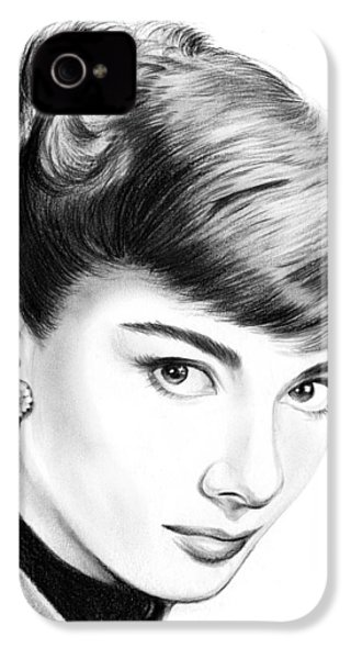 Audrey Hepburn IPhone 4s Case by Greg Joens