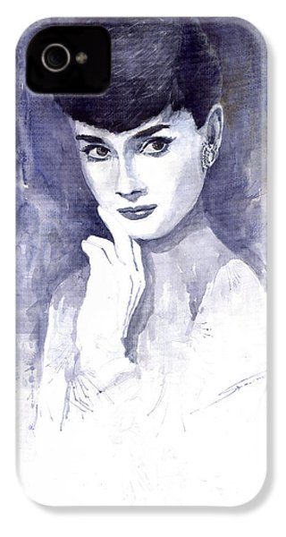 Audrey Hepburn  IPhone 4s Case by Yuriy  Shevchuk