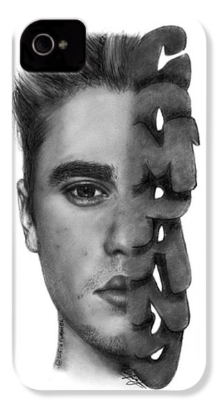 Justin Bieber Drawing By Sofia Furniel IPhone 4s Case
