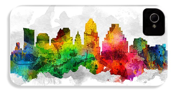 Austin Texas Cityscape 12 IPhone 4s Case by Aged Pixel