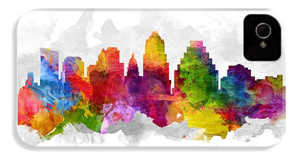 Austin Texas Cityscape 13 IPhone 4s Case by Aged Pixel