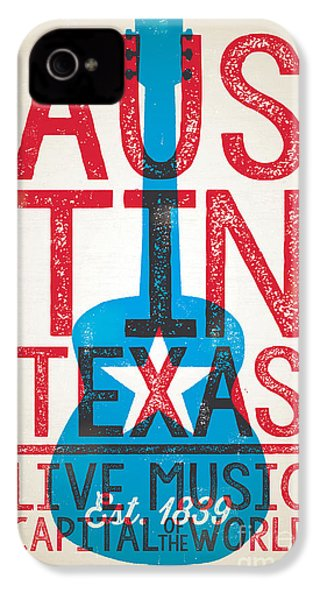 Austin Texas - Live Music IPhone 4s Case by Jim Zahniser