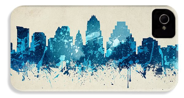 Austin Texas Skyline 20 IPhone 4s Case by Aged Pixel