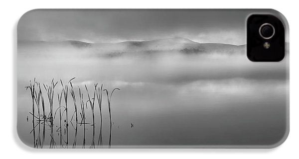 IPhone 4s Case featuring the photograph Autumn Fog Black And White by Bill Wakeley