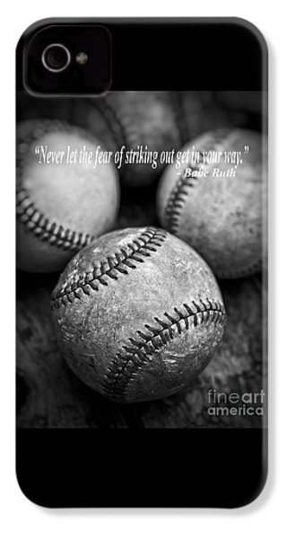 Babe Ruth Quote IPhone 4s Case