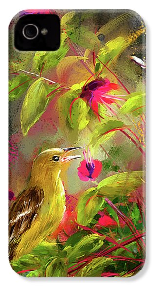 Baltimore Oriole Art- Baltimore Female Oriole Art IPhone 4s Case by Lourry Legarde