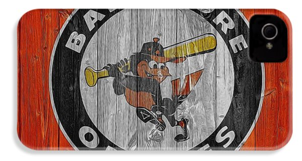 Baltimore Orioles Graphic Barn Door IPhone 4s Case by Dan Sproul