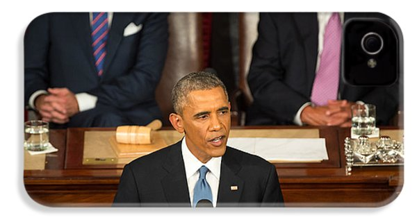 Barack Obama 2015 Sotu Address IPhone 4s Case by Science Source