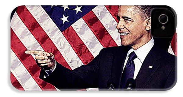 Barack Obama IPhone 4s Case by Iguanna Espinosa