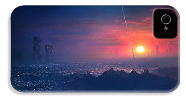 Barcelona Smoke And Neons Montserrat IPhone 4s Case by Guillem H Pongiluppi