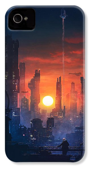Barcelona Smoke And Neons The End IPhone 4s Case by Guillem H Pongiluppi