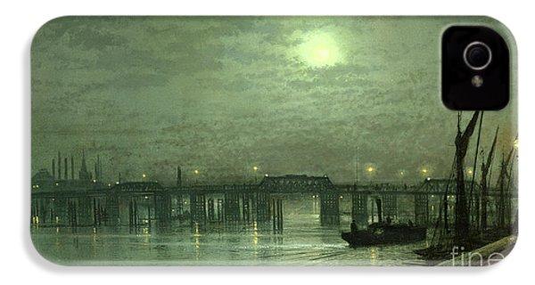 Battersea Bridge By Moonlight IPhone 4s Case by John Atkinson Grimshaw
