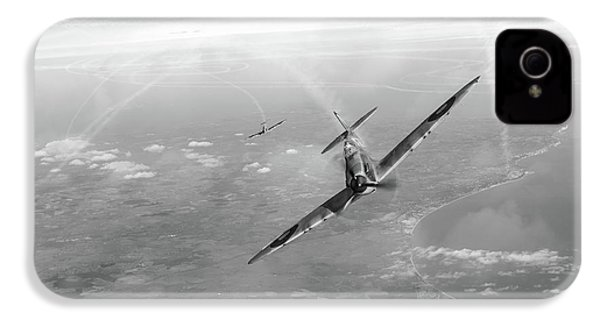IPhone 4s Case featuring the photograph Battle Of Britain Spitfires Over Kent by Gary Eason