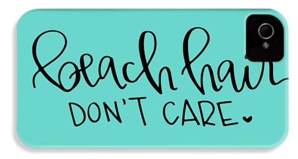 Beach Hair IPhone 4s Case by Elizabeth Taylor
