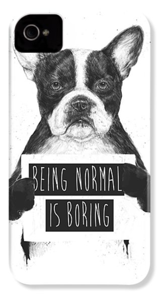 Being Normal Is Boring IPhone 4s Case by Balazs Solti