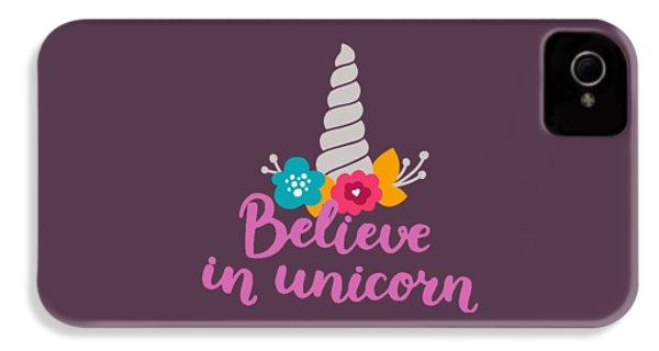 Believe In Unicorn IPhone 4s Case by Edward Fielding