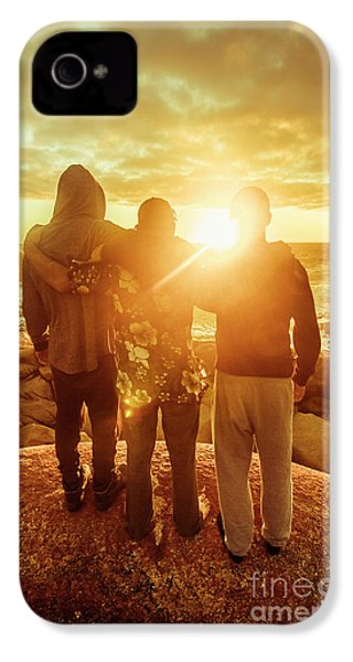 IPhone 4s Case featuring the photograph Best Friends Greeting The Sun by Jorgo Photography - Wall Art Gallery